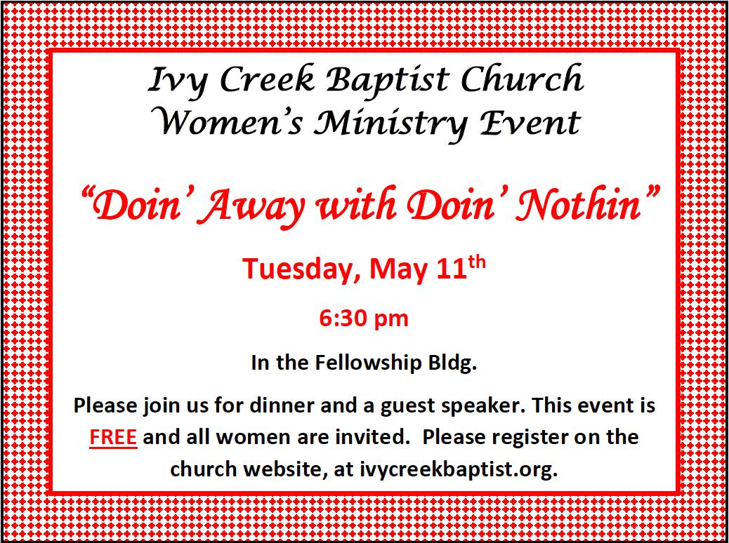 Ivy Creek Baptist Women's Ministry